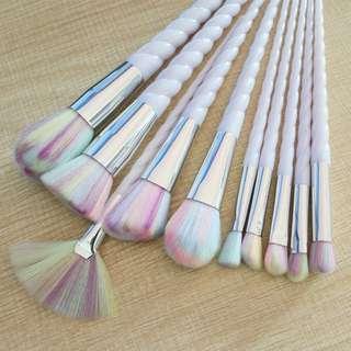 10 pcs unicorn makeup brush set