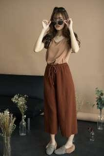 Casual Pleated Culottes
