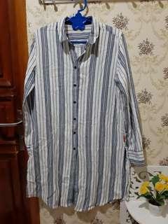 #yukjualan kemeja tunik stripe baru