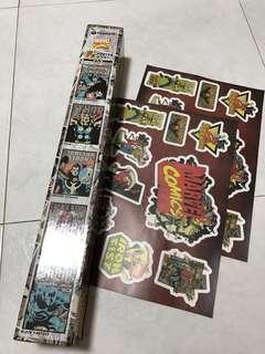 Thor Marvel Poster Free X2 Stickers Avengers Spiderman Strange Iron America