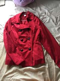 Red coat size 10