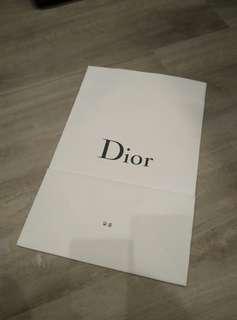 Christian Dior Paper Bag
