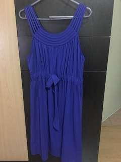 Electric blue day dress