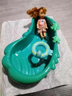 Barbie Doll Bathtub with Kelly