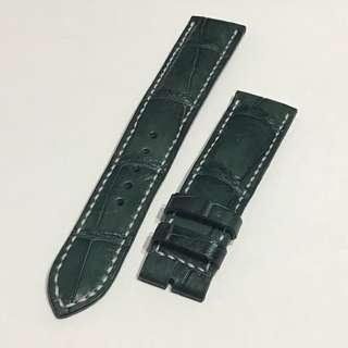 20mm Green 100% Croc Leather Watch Strap