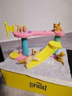 Barbie Doll 4 Cats (5)