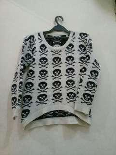 Skull White Sweater