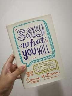 Say What You Will / Cammie McZovern
