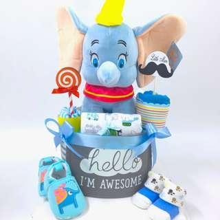 Dumbo Diaper Cake