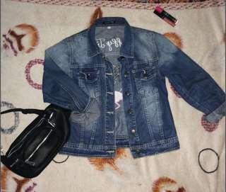 Jacket Jeans Flamingo