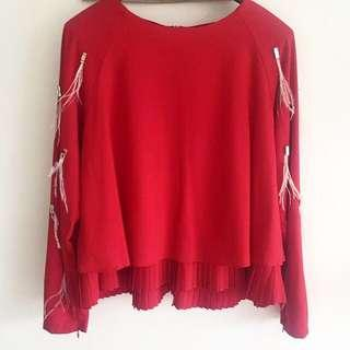 Lubna Pleated Blouse