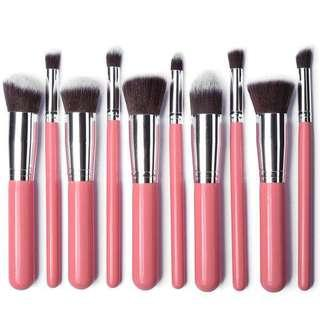 10 pcs Kabuki makeup brushes