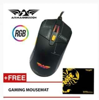 Armaggeddon Scorpion 5 RGB Gaming Mouse (4800CPI) Free Gaming Mousemat