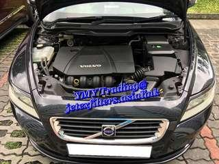 #jetexfilters_volvo. #jetexfiltersasialink. Volvo S40 2.0cc on site replacement of Jetex high flow performance drop in air filter with 1.14 kpa flow rate washable and reusable ...