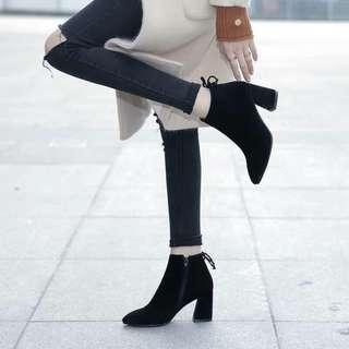 Black Ankle Boots with Back Lace 35 36 38