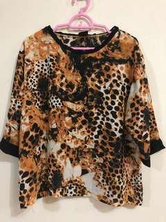 MK Animal Print Blouse Top