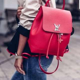 Louis Vuitton Limited Edition Rock Me Backpack Rucksack Leather (calf) Red