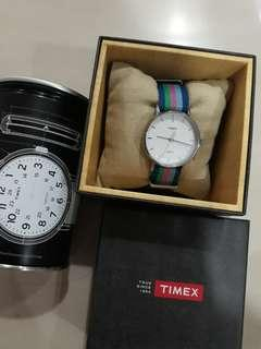 Brand New Timex Weekender Fairfield Unisex Watch with Pouch Nylon Slip Thru Strap Indiglo Night Light Timex TW2P91700  Weekender Fairfield Mid-Size Rainbow Fabric Christmas Gift