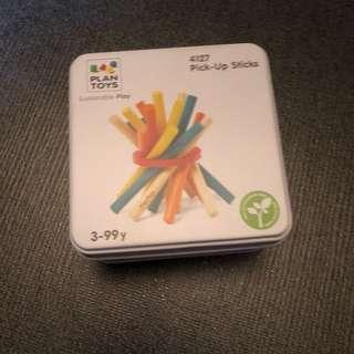 3-5Y NEW Plan Toys Wooden Pick Up Sticks