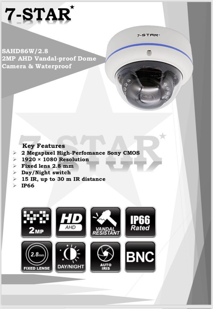 2 0MP Full-HD SONY Starvis 1080P Smart IR CCTV Security