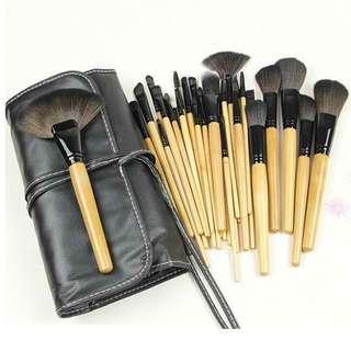 24 pcs professional makeup brush set (w bag)