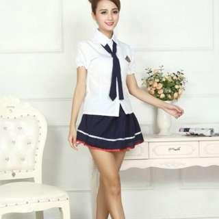 🚚 *Ready stock* Sexy student schoolgirl uniform theme role jap party