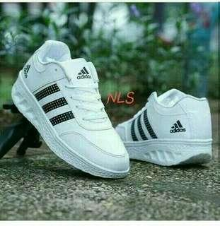 sepatu sneakers adidas sport wedges slipon shoes flatshoes slip on wanita // blouse