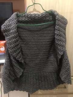自家織 冷織外套 披肩 背心