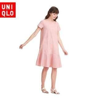 Uniqlo pink dress size S