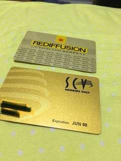 Radio and tv member cards