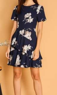 Blogshop Navy Floral Dress