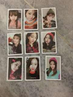 WTS Twice Merry and Happy Pre-order photocards