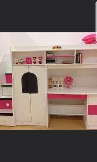 Good condition Berg Children Bed with wardrobe