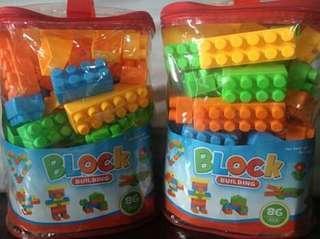Lego Blocks in a Big Bag