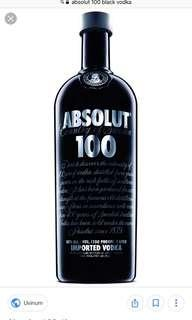 🚚 Absolut Vodka 100 1 litre
