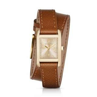 Michael Kors Taylor gold-tone and leather wrap MK2441