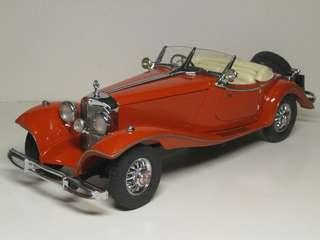 1:24 Benz 500K 1955 合金模型