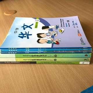 Secondary 1 Express Textbooks (Used)