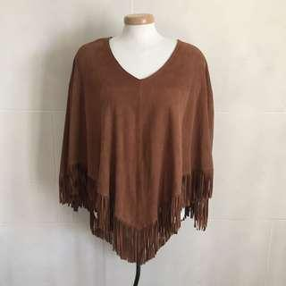 Lucky brand suede poncho one size