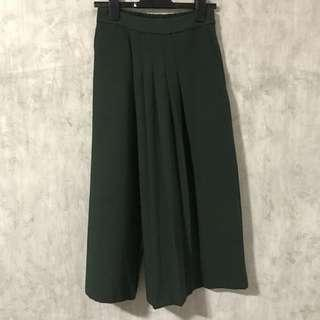 Forest Green Overlap Culottes