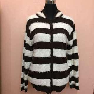 Cotton Knit Sweater Hoodie