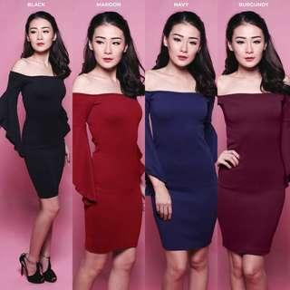 AMABILIS OFF SHOULDER DRESS