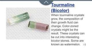 2 pcs tourmaline stone