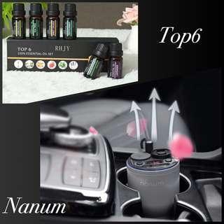 Nanum air diffuser 香薰機 + Top6 essential oil set 香薰油套裝