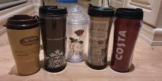 MARKED DOWN PRICE FOR ONLY Php2000 - Coffee Tumblers Collection: STARBUCKS/TIM HORTONS/COSTA TUMBLERS/LimitedEdition Beauty&the Beast  Tumbler