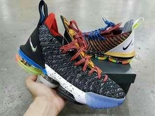 LEBRON 16 WHAT THE WITH 2 EXTRA LACE SIZE 41-46