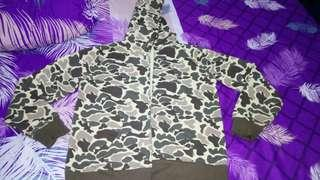 Nego Sweater Zip Hoodie Camo Like New Size M