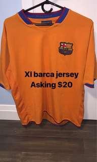 Vintage Barcelona training jersey