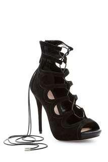 Alexander McQueen Ghillie Lace-Up Stiletto Pumps