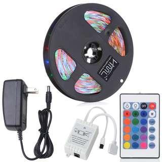 【Ready Stock】HML 5M Waterproof RGB Strip Light SMD2835 300 LEDs 24W with 24 Keys Remote C